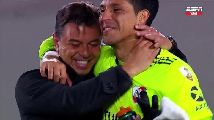 Enzo Pérez analizó su actuación como portero ante los medios. Captura/ESPN