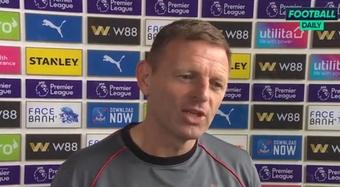 Graeme Jones seguirá en el Newcastle hasta el próximo parón internacional. Captura/FootballDaily