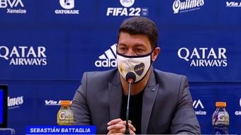 Battaglia ya dio a conocer la convocatoria de Boca Juniors para el 'Superclásico'. Captura/ESPN
