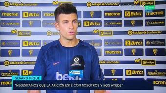 Piqué n'a pas caché sa grande préoccupation sur la situation sportive du Barça. Capture/Movistar