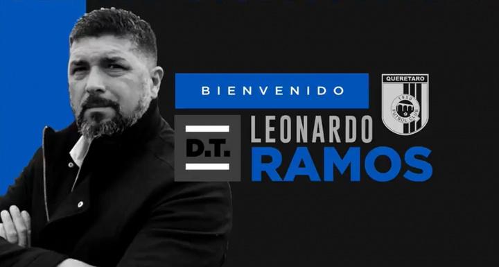 Leo Ramos, nuevo técnico de Querétaro. Twitter/Club_Queretaro