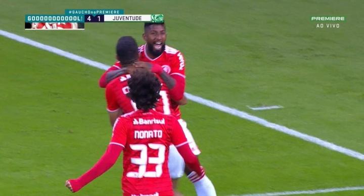 Internacional golea y ya es finalista del Gaúcho. Captura/SporTV