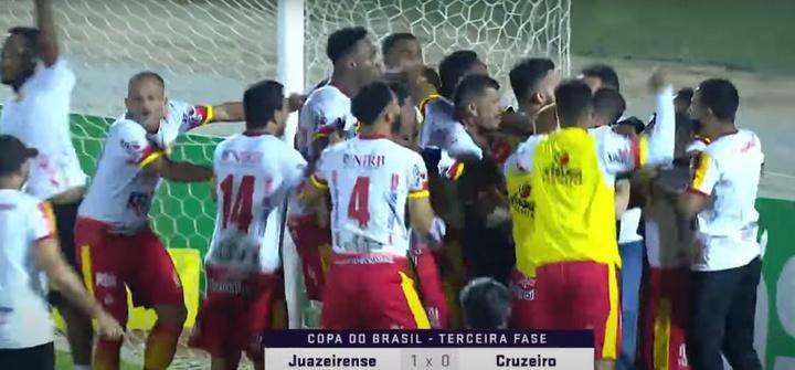 Otra campanada en Copa Brasil: un Cuarta se cargó a Cruzeiro. Captura/Globoesporte