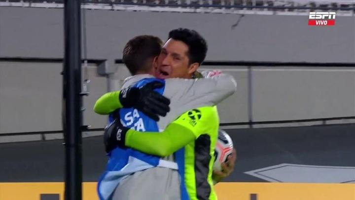 Mateo Raschia habló del abrazo con Enzo Pérez. Captura/ESPN
