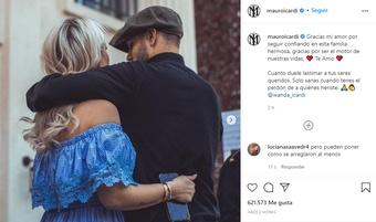 Fin a la crisis entre Wanda e Icardi. Instagram/mauroicardi