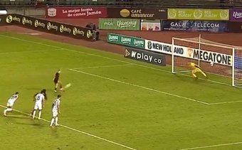 Soteldo firmó un golazo con un 'Panenkazo'. Captura/TVP
