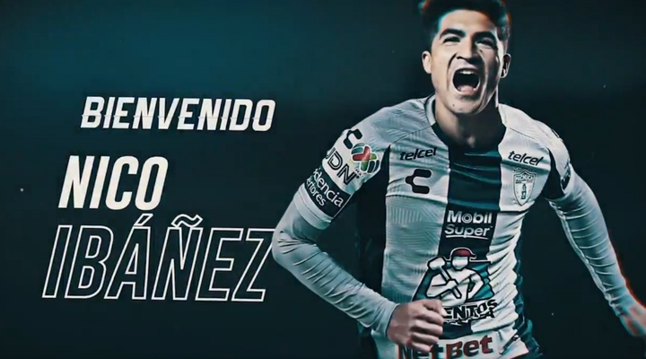 Nicolás Ibañez ya es de Pachuca. Twitter/Tuzos