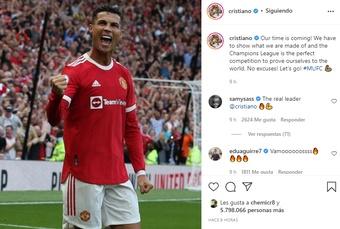 Cristiano lanzó un mensaje de motivación. Instagram/cristiano