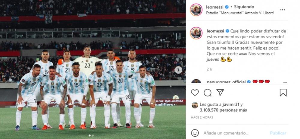 Messi, le plus heureux des hommes. Instagram/leomessi