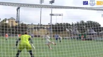 James scores some great goals before facing Millonarios. Twitter/Everton