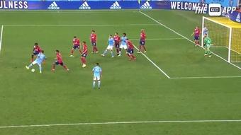 Un taconazo 'a lo Guti' para sentar a toda la defensa e igualar el marcador. Twitter/MLS