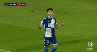 Moha Ezzarfani anotó el único gol del partido. Captura/Footters