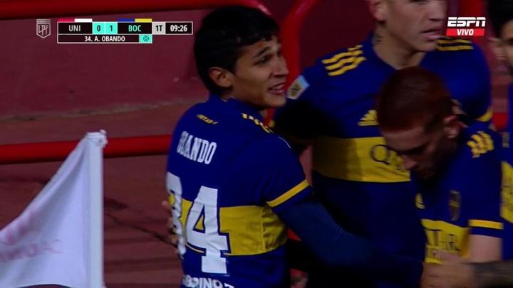 Unión Santa Fe y Boca firmaron tablas en el partido inugural del campeonato. Captura/ESPN