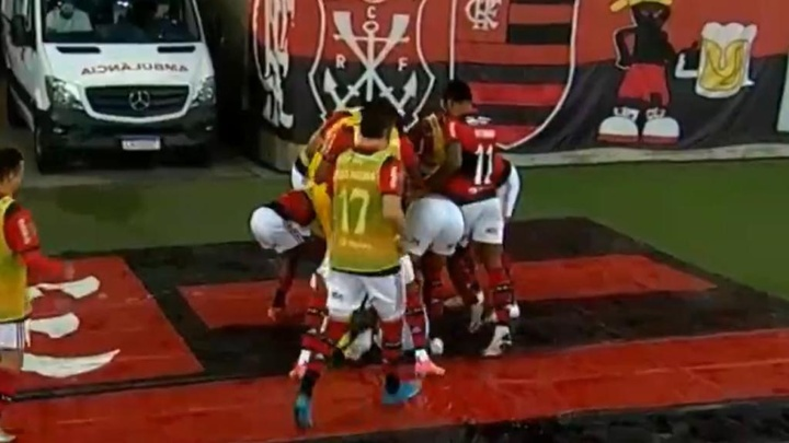 João Gomes marcó a los 17 segundos de saltar al campo. Captura/SportTV3