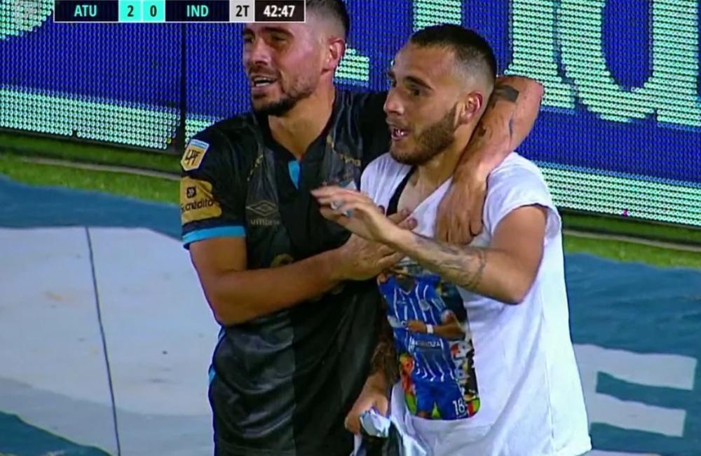 Tesuri dedicó el gol al 'Morro' García. Captura/FOX
