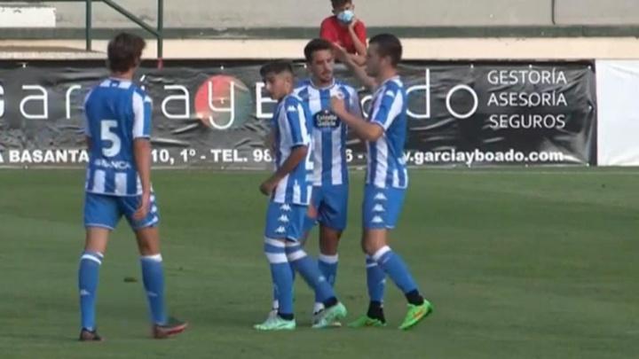 Rafa de Vicente y Miku guían al Dépor al triunfo en el debut. Captura/RCDeportivo
