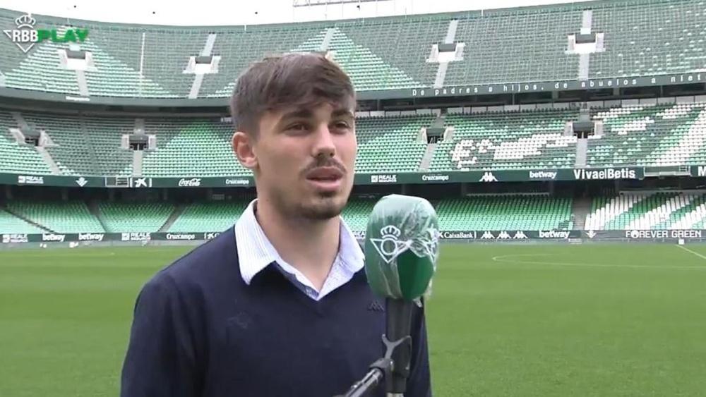 Rodri renovará con el Betis hasta 2026. Twitter/RealBetis
