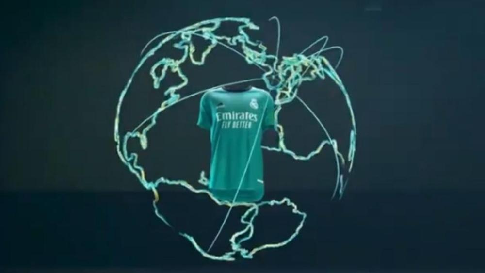 El Madrid dio a conocer su tercera camiseta. Captura/RealMadrid