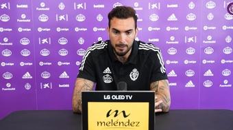Roberto destacó el punto de madurez que le falta al equipo. Captura/RealValladolid
