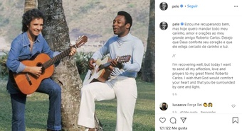 Pelé tranquilizou o mundo do futebol após cirurgia. Captura/Instagram/pele
