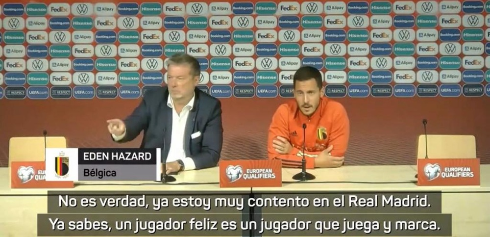 Hazard dejó claro que es feliz en el Madrid. EstonianFootballFederation