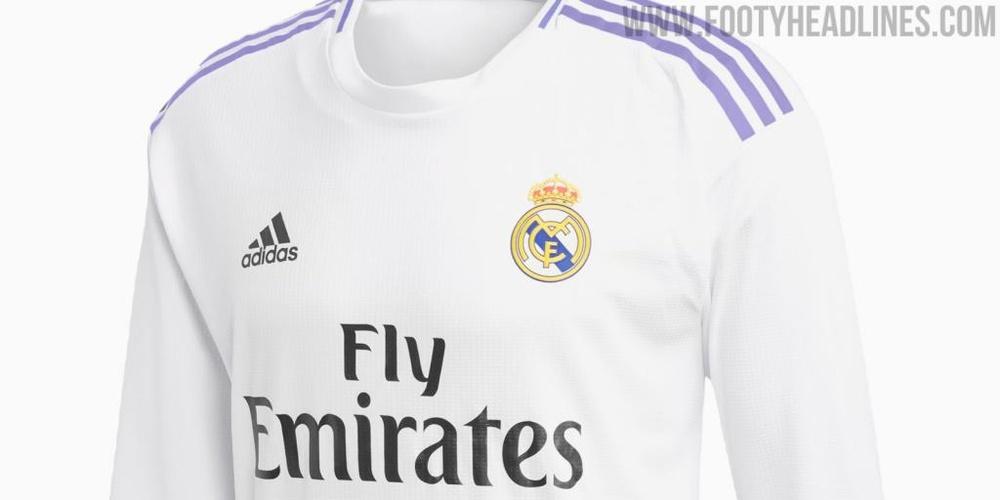 El Madrid volverá a las clásicas líneas moradas. Captura/FootyHeadlines