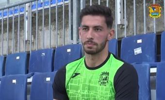 Altube ha llegado cedido al Fuenla por el Real Madrid. Twitter/CFFuenlabrada