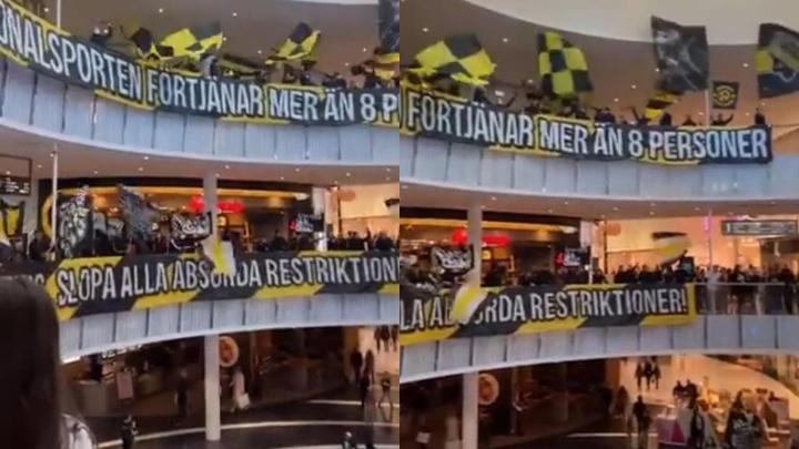 Protestan contra los estadios vacíos ¡juntándose en un centro comercial! Captura/kockef