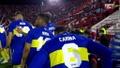Los jugadores de Boca salieron con el nombre de sus madres en sus camisetas. Captura/ESPN