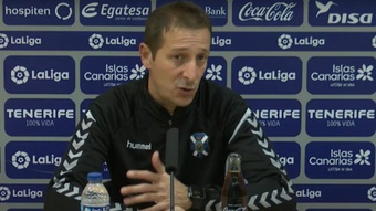 Luis Miguel Ramis destacó la ambición del Tenerife. YouTube/CDTenerife