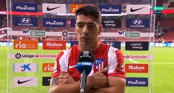 Luis Suárez lamentó el empate. Captura/MovistarLaLiga