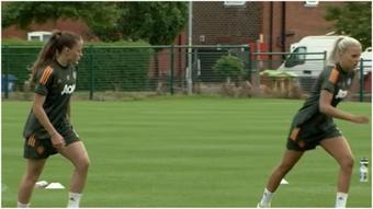 Ona Batlle podría jugar su segundo derbi de Mánchester. YouTube/ManchesterUnited