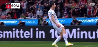 Lewandowski scored in the third minute against Bayer. Screenshot/SkySports