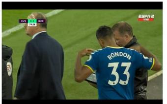 Rondón ya sabe lo que es jugar con el Everton. Captura/ESPN