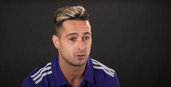 Sergio León no se obsesiona por su falta de gol. YouTube/RealValladolid