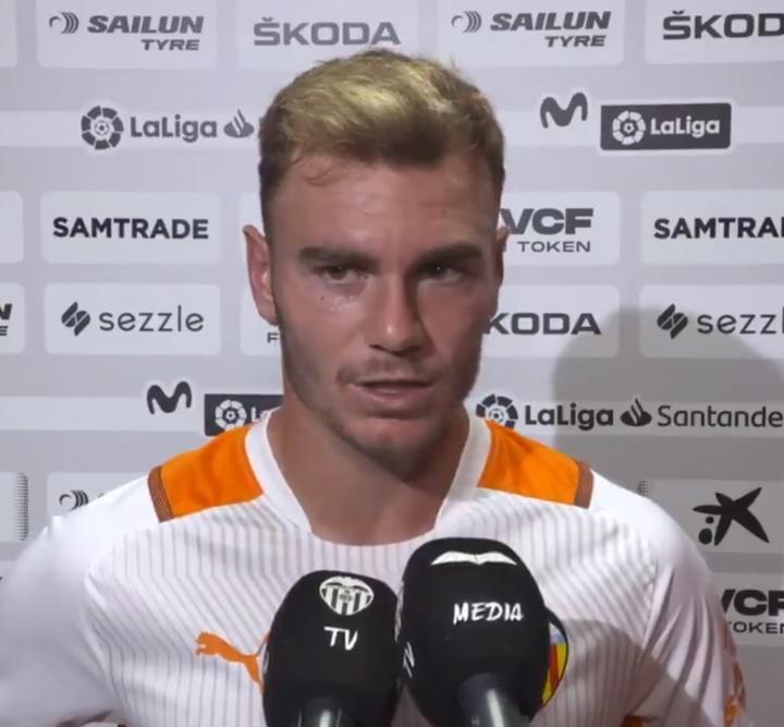Toni Lato analizó la derrota ante el Real Madrid. Twitter/valenciacf