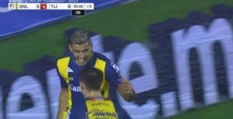 Atlético San Luis venció 4-1 a Tijuana.  Captura/ESPN