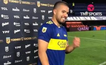 Marcelo Weigandt sufrió una luxación del hombro derecho. Captura/TNTSports