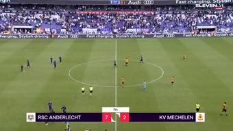 El Anderlecht metió siete goles al KV Mechelen, seis de ellos en 45 minutos. Captura/ELEVEN1