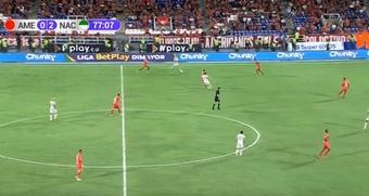 Atlético Nacional tumbó a América de Cali. Capturas/WinSports
