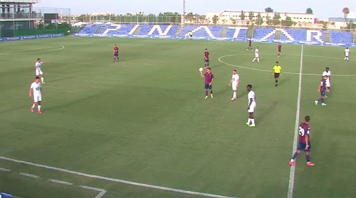 El Levante jugó un amistoso contra el Rennes. Captura/UDLevante