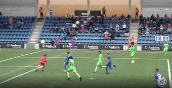 El Atlético Baleares sacó un buen punto en el campo del Andorra. Captura/Footters
