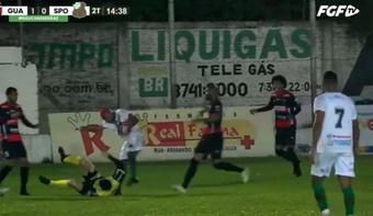 Willian Ribeiro fue sancionado con dos años sin jugar. Captura/FGFTV