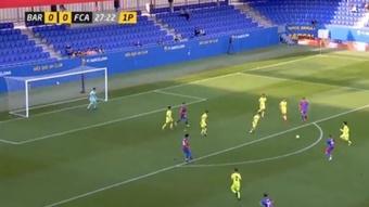 El Barça B supera al Andorra de Piqué y ya piensa en el Castilla. Captura/Esports3