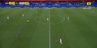 Los Arnau le cuestan dos puntos a un Barça B con diez. Captura/Esports3