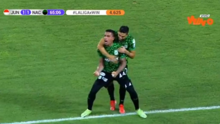 Álvez hizo un doblete contra su ex equipo. Captura/WinSports