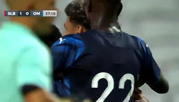 Benfica y Marsella empataron a uno. Captura/C8
