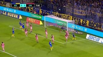 Boca Juniors doblegó por 4-2 a Lanús. Captura/Fanatiz