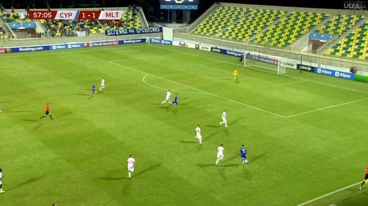 Chipre y Malta empataron. Captura/UEFAtv