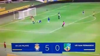 La UD Las Palmas asoma la 'manita' en verano. Captura/PlayUD
